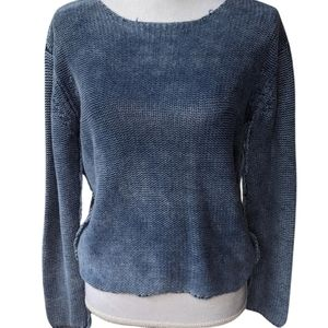 Bella Dahl | Knit Blue & White Sweater
